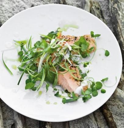 Hot-smoked Norwegian salmon dressed with chilli and lemongrass infused coconut milk