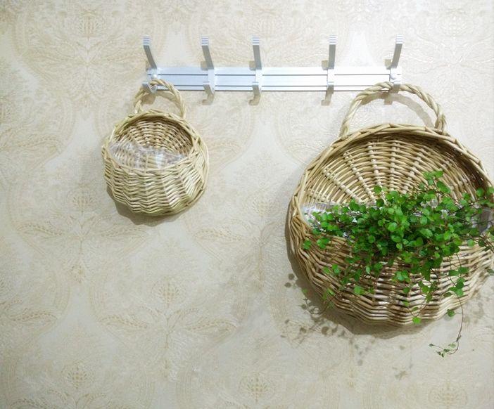 Pas cher 2017 Naturel en osier le mur panier suspendu pot de fleur, Acheter  Paniers de stockage de qualité directement des fournisseurs de Chine:2017 Naturel en osier le mur panier suspendu pot de fleur