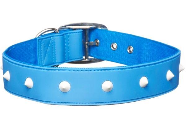 Gummi Pets Dog Collar Blue w/ Spike Non-toxic Rubber NEW