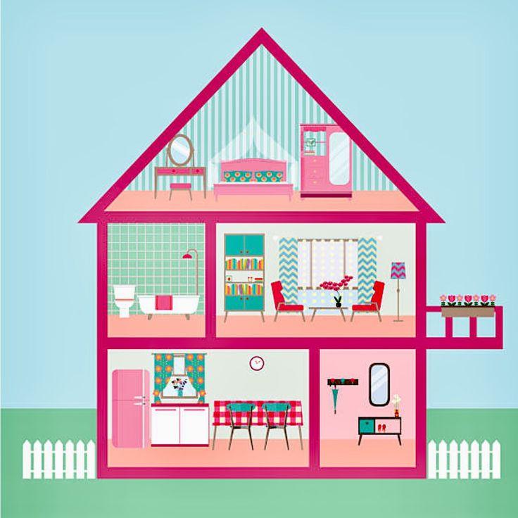 картинка трех этажного дома срисовать с комнатами особенности