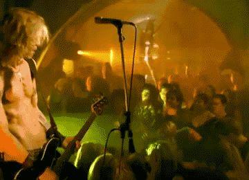"GIF Duff McKagan from Velvet Revolver ""Slither"" videoclip"
