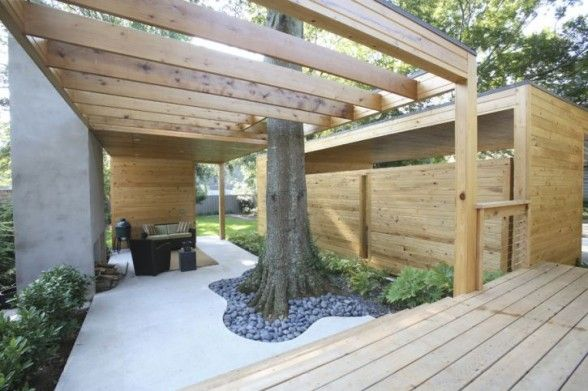 outdoor space with carport