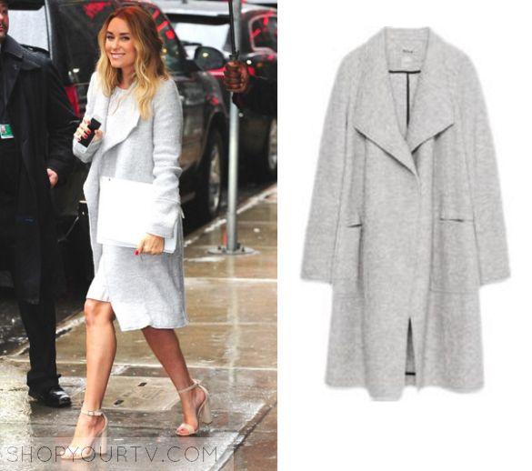 Lauren Conrad wears this grey coat in this week's episode of Good Morning…