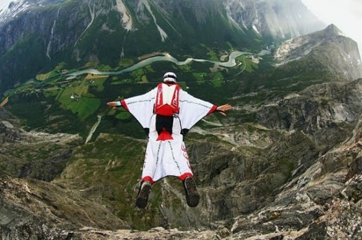Wing Suit Base Jumping