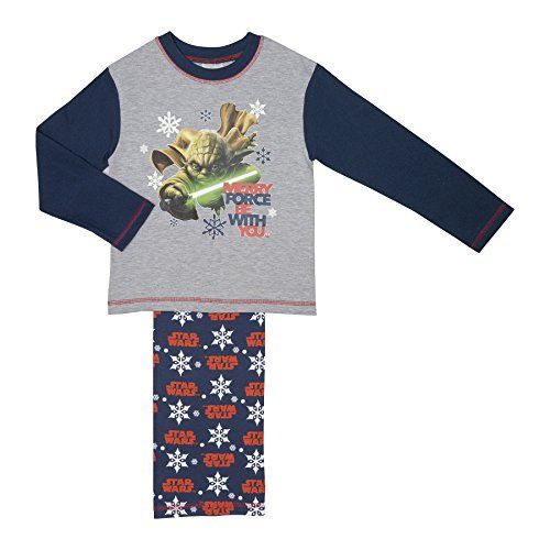 Boys Star Wars Yoda Merry Force Be With You Pyjamas  Age 410 Years  45 years -- Learn more by visiting the image link.
