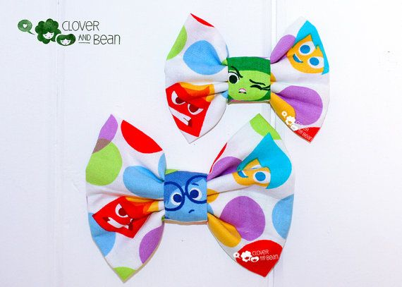 Disney Inside Out Bow Inside Out Movie by cloverandbeantutus