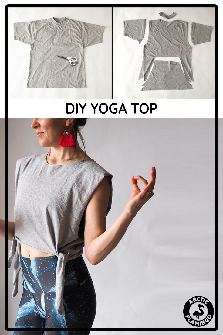 Anleitung Yoga Top DIY – Eco-Friendly, Recycled Yoga Leggings | Arctic Flamingo