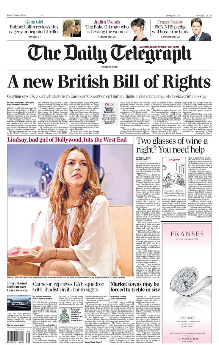 Daily Telegraph - 03.10.2014