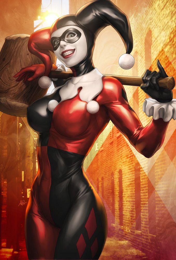 Harley Quinn Sideshow Art by Stanley Lau, Artgerm | Super Criminal Women | Pinterest | Sideshow, Harley quinn and Comic