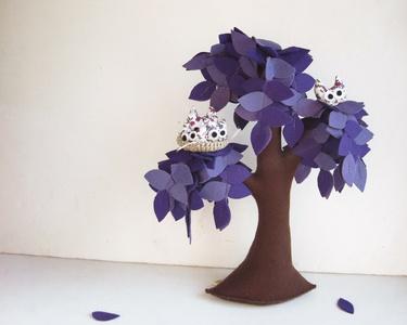 Beautiful purple felt tree