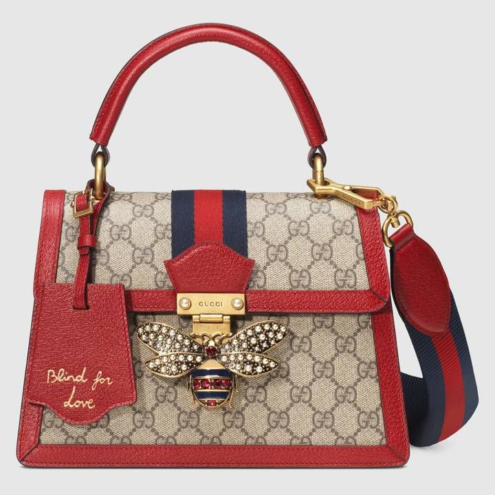 96ec5d803 Shop the Queen Margaret GG small top handle bag by Gucci. An eclectic  mixture of historical Gucci details and newly established codes