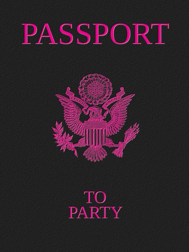What if you had a Paris themed party and everyone had to have one of these passport invitations to get in?