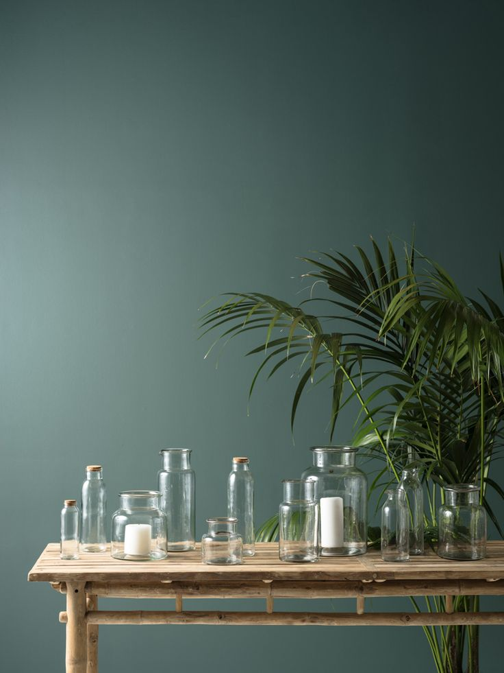 We love glass.  #jars #carafes #vase #green #hurricanes by this... design & living