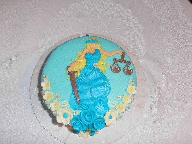 práva, bohyně spravedlnosti dort