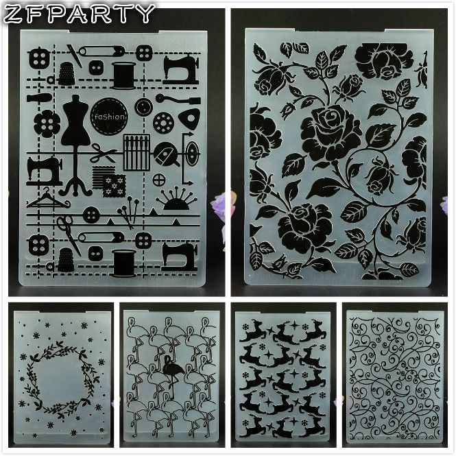 Find More Embossing Folders Information about ZFPARTY  1 Sheet New Plastic Embossing Folder For Scrapbook DIY Album Card Tool Plastic Template 10.5*14.5cm,High Quality folder embossing,China folder plastic Suppliers, Cheap folder embossing scrapbooking from ZFPARTY Handcraft Store on Aliexpress.com