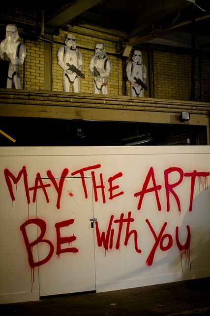 May the art be with you, Mr Brainwash, London#street art