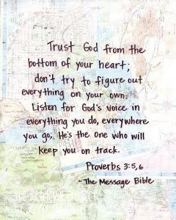 Stop trying to figure it out on your own. And start trusting the God that knows our every thought, step, feeling and circumstances.