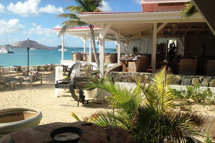 Lunch with a view, St. Martin  #caribbean #beach #tropical #flavorsofstmartin #food