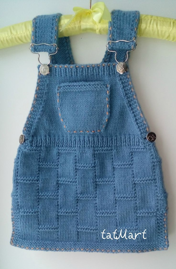 "Ravelry: Baby dress color ""jeans"" by tatiana Martin"