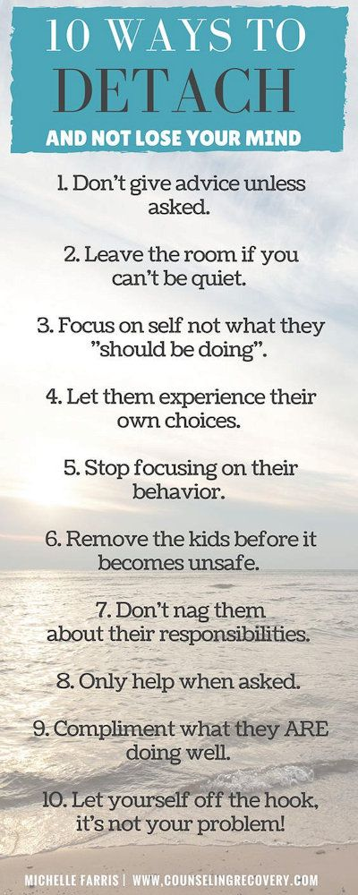 10 ways to detach ...