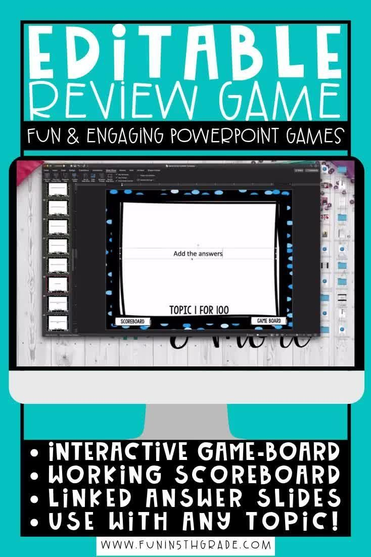 Editable Make Your Own Powerpoint Review Game Are You Looking For A Way To Teach And Review Any En 2020 Rangement Jeux Videos Activite Manuelle Jeux Video Jeux Video