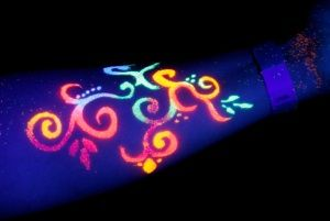 colorful blacklight tattoo | Pin Light Brown Hair With Golden Highlights Color Ash Rown On