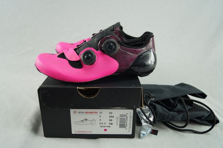 NEW Specialized S-Works 6 Carbon Road Bike Shoes Size EU 37 USA 5 Neon Pink