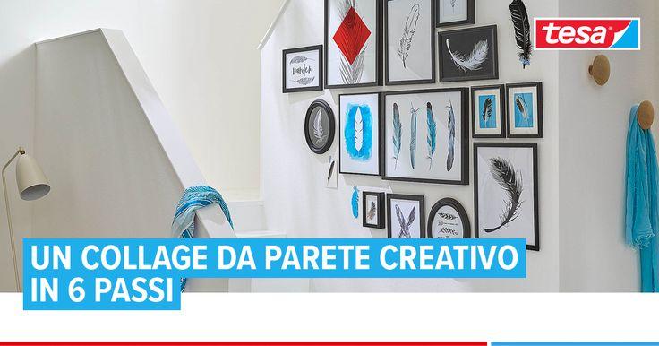 Un gruppo di immagini incorniciate su un unico tema è un modo elegante per decorare un corridoio o una rampa di scale. Perfezionare la posizione di ogni pezzo prima di appendere.  Scopri come creare un collage di cornici in solo 6 passi!