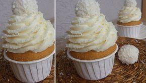 Fantastické vanilkové muffiny s RAFFAELLO krémem | NejRecept.cz