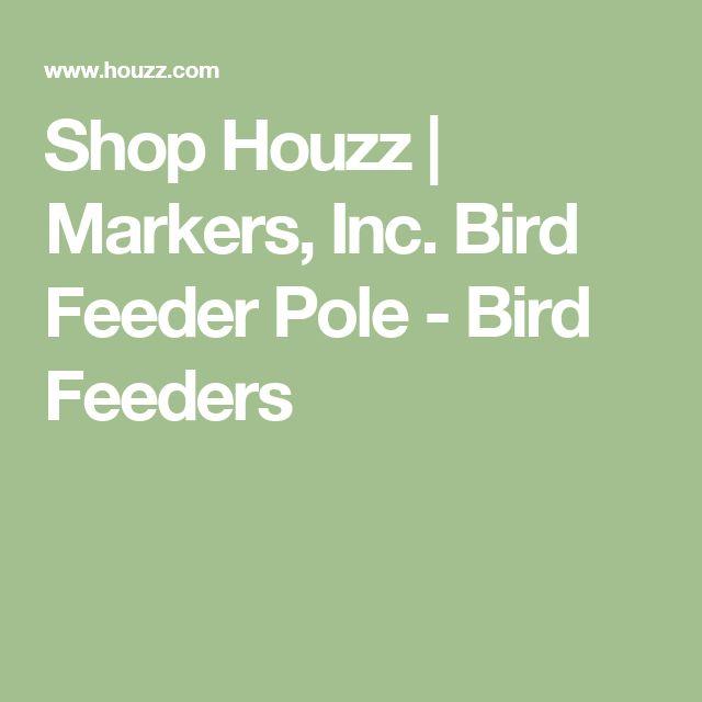Shop Houzz   Markers, Inc. Bird Feeder Pole - Bird Feeders