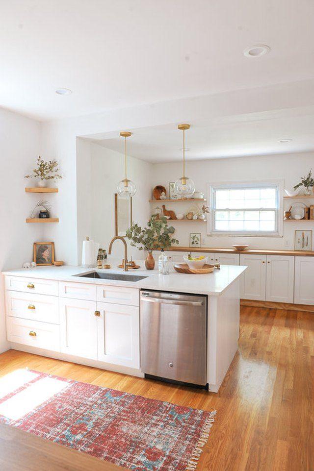 8 Ways To Give Your Craftsman Kitchen A Modern Makeover White Wood Kitchens Home Decor Kitchen Interior Design Kitchen