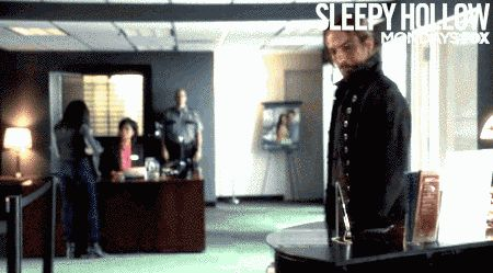 "Also, pens on chains in banks, because obviously. | 19 Times Ichabod Crane Was Adorably Clueless On ""Sleepy Hollow"""