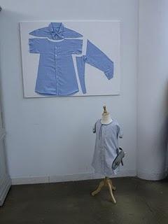 men's shirt refashioned to toddler dress
