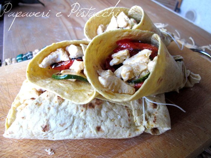 Tortillas con Verdure e Petto di Tacchino