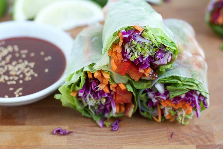 Spicy Asian Chicken Spring Rolls - Hip Foodie Mom