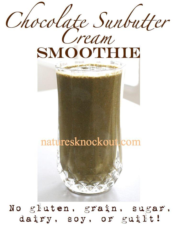 Chocolate Sunbutter Cream Smoothie
