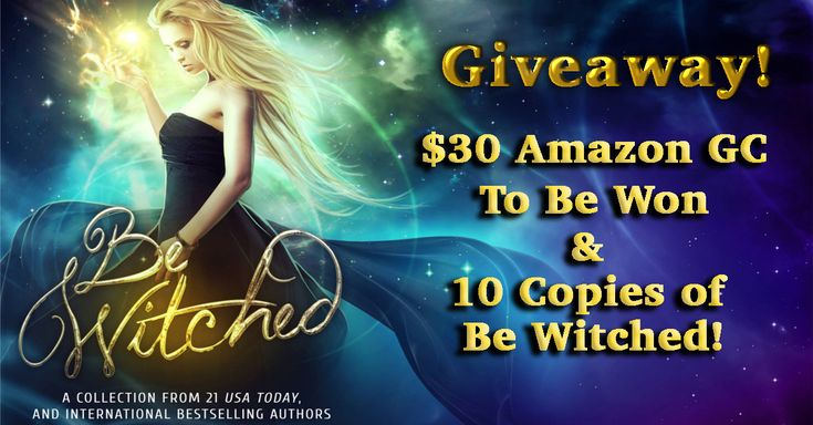 http://christinamandara.com/giveaways/be-witched-giveaway-30-amazon-gift-card-10-paranormal-romance-books-up-for-grabs/?lucky=398        Be Witched #GIVEAWAY! $30 Amazon GC & 10 #ebooks Up For GRABS!