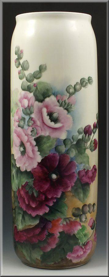 Limoges Porcelain Vase w/ Flowers.