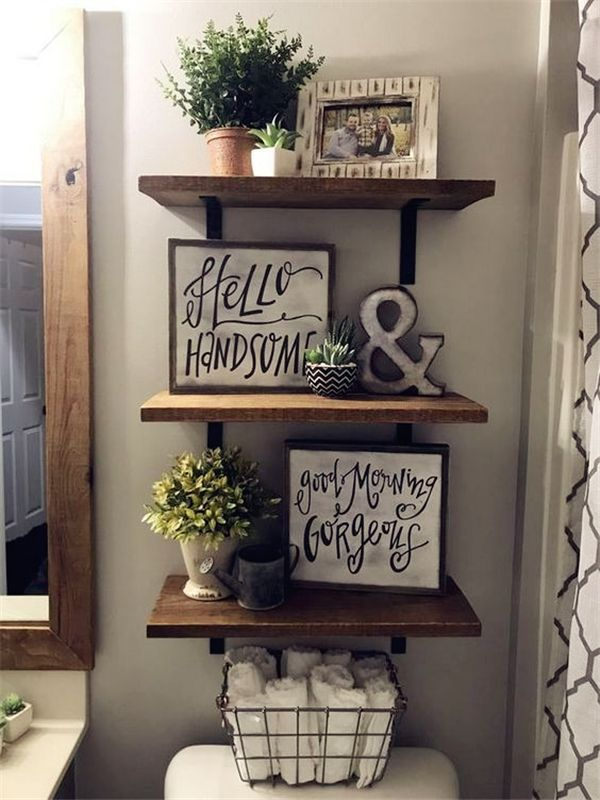 10 Small Decorating Ideas On A Budget Housiom Rustic Bathroom Diy Small Bathroom Decor Bathroom Decor