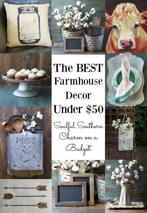 The Best Farmhouse Decor under $50! I love this vintage farmhouse decor! Fixer Upper inspired home decor that is actually affordable!