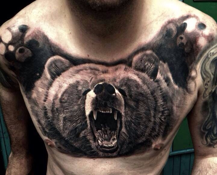 40 best roaring bear tattoo images on pinterest bear