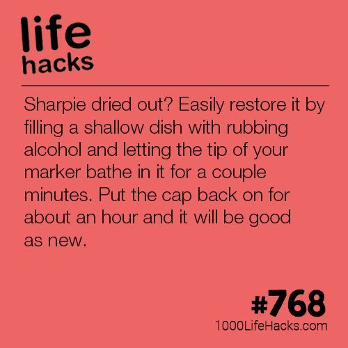Best DIY Life Hacks & Crafts Ideas : Give Life To Your Dried Out Sharpies, a post from the blog 1000 Life Hacks on Bl