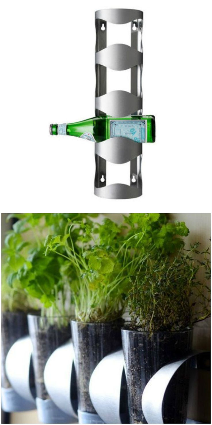 Turn a Vurm wine rack into a DIY  indoor herb garden instead, thanks to this IKEA hack.