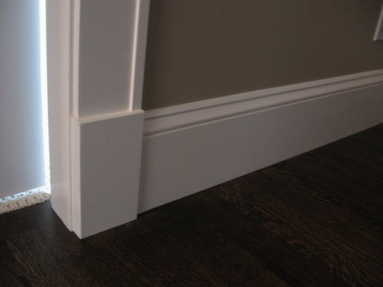 Tall baseboards. Not too many grooves for dust!