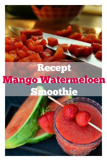 Recept zomerse mango watermeloen smoothie met citroen en spinazie zonder yoghurt - Mamaliefde.nl