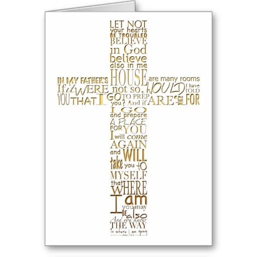 Christian Funeral Bible Quotes: Christian Cross Bible Verses Sympathy Thank You Cards