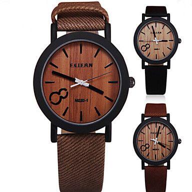 Herren Armbanduhr Uhr Holz Quartz PU Band Vintage Schwarz Braun Grau Beige Schwarz Beige Grau Kaffee Braun 4791981 2017 – €7.83