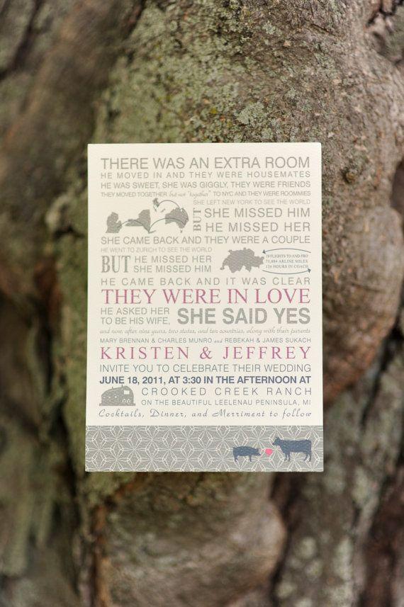 Your Love Story Wedding Invitation.
