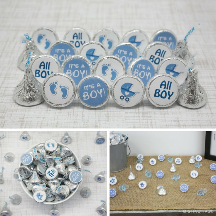 Baby Shower Stickers For Favors: It's A Boy Baby Shower Favor Stickers For Hershey Kisses
