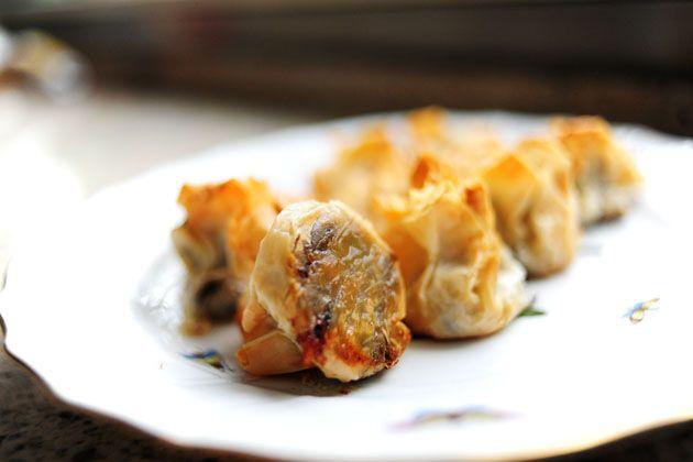 Mushroom Phyllo Bundles | Recipe